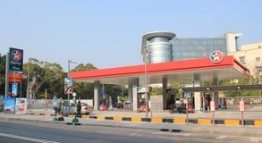 Stazione del petrolio di Hong Kong Caltex Fotografia Stock