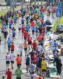 Stazione del rinfresco di Maraton Fotografia Stock Libera da Diritti