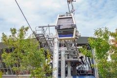 Stazione del Ropeway di Bursa Uludag in montagna di Uludag immagine stock libera da diritti