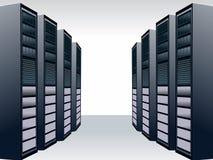 Stazione del server Fotografie Stock
