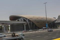 Stazione del sistema di trasporto del Dubai Immagini Stock
