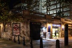 Stazione del tempio alla notte fotografia stock libera da diritti