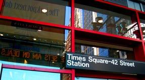 Stazione del Times Square immagini stock libere da diritti