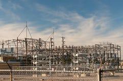 Stazione del trasformatore - sottostazione elettrica Immagine Stock Libera da Diritti