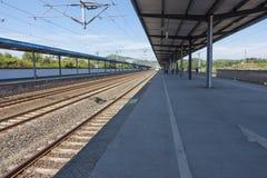 Stazione del treno ad alta velocità Fotografie Stock
