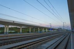 Stazione del treno ad alta velocità Fotografia Stock