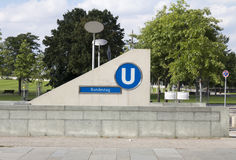 Stazione del u-bahn di Berlino Immagini Stock Libere da Diritti