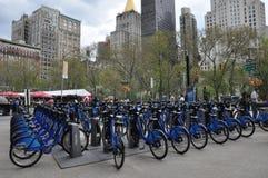 Stazione della bici di Citi in Manhattan Fotografie Stock Libere da Diritti