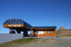 Stazione della cabina di funivia della sommità di Chamrousse Fotografie Stock Libere da Diritti