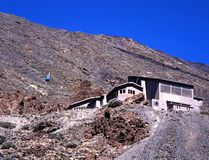 Stazione della cabina di funivia, supporto Teide, Tenerife. Fotografia Stock Libera da Diritti