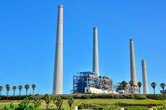 Stazione della centrale elettrica in Israele Fotografie Stock