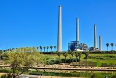 Stazione della centrale elettrica in Israele Fotografia Stock Libera da Diritti
