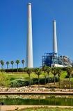 Stazione della centrale elettrica in Israele fotografie stock libere da diritti