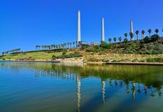 Stazione della centrale elettrica in Israele Fotografia Stock