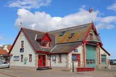 Stazione della lancia di salvataggio di Anstruther, Fife, Scotand Immagini Stock Libere da Diritti