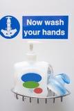 Stazione della lavata della mano Immagini Stock Libere da Diritti