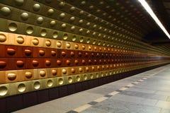 Stazione della metropolitana da Praga Fotografia Stock
