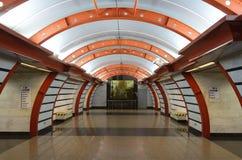 Stazione della metropolitana del canale di Obvodny Fotografie Stock Libere da Diritti