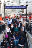 Stazione della metropolitana del circo di Oxford Fotografia Stock Libera da Diritti