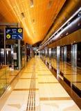 Stazione della metropolitana del Dubai Fotografia Stock Libera da Diritti