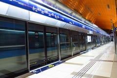 Stazione della metropolitana del Dubai Fotografie Stock Libere da Diritti