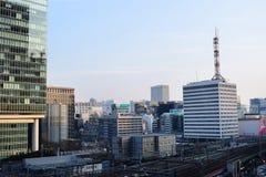 Stazione della metropolitana del Giappone Tokyo e distretto aziendale finanziario Immagine Stock Libera da Diritti