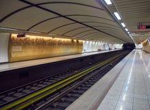 Stazione della metropolitana dell'acropoli atene Attica, Grecia Fotografia Stock Libera da Diritti