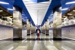 Stazione della metropolitana Delovoy Tsentr a Mosca Fotografia Stock Libera da Diritti