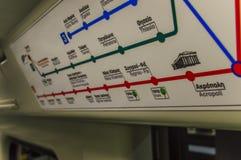 Stazione della metropolitana di Atene Fotografia Stock Libera da Diritti