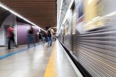 Stazione della metropolitana di Consolação, Sao Paulo, Brasile immagini stock libere da diritti