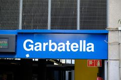 Stazione della metropolitana di Garbatella Fotografia Stock Libera da Diritti