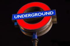 Stazione della metropolitana di Londra Fotografie Stock