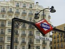 Stazione della metropolitana di Madrid Fotografia Stock