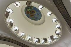 Stazione della metropolitana di Mosca, Russia - di Mayakovskaya fotografia stock libera da diritti