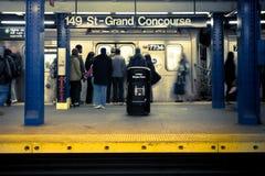 Stazione della metropolitana di NYC Immagini Stock Libere da Diritti