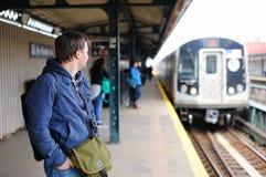 Stazione della metropolitana di NYC Fotografie Stock