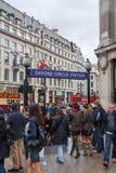 Stazione della metropolitana di Oxford Circus fotografie stock libere da diritti
