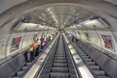Stazione della metropolitana di Praga, repubblica Ceca Fotografia Stock