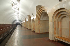 Stazione della metropolitana Dobryninskaya di Mosca Fotografie Stock Libere da Diritti