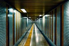 Stazione della metropolitana futuristica a Kyoto fotografia stock