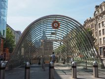 Stazione della metropolitana a Glasgow immagine stock