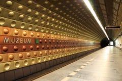 Stazione della metropolitana a Praga Fotografie Stock Libere da Diritti