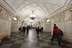 Stazione della metropolitana Prospekt Mira di Mosca Immagine Stock