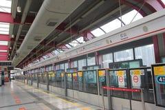 Stazione della metropolitana a SHENZHEN Fotografie Stock