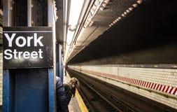 Stazione della metropolitana in sotterraneo immagine stock libera da diritti