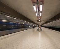 Stazione della metropolitana Stoccolma sweden 08 11 2015 Fotografia Stock Libera da Diritti