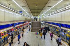 Stazione della metropolitana in Taipei, Taiwan Fotografie Stock Libere da Diritti