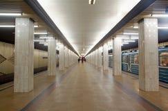 Stazione della metropolitana Ulitsa Podbelskogo di Mosca Fotografia Stock Libera da Diritti