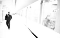 Stazione della metropolitana, vaga Fotografia Stock Libera da Diritti