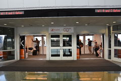 Stazione della monorotaia dell'orizzonte alla Dallas-fortificazione degno l'aeroporto internazionale Immagini Stock Libere da Diritti